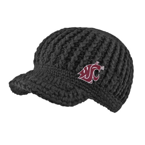 WSU Cougars Grey Short Bill Beanie