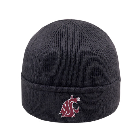 WSU Fold Over Cougars Grey Beanie