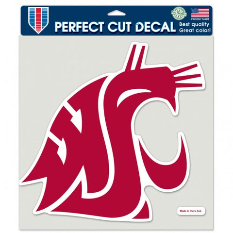 WSU Cougar Perfect Cut 8X8 Color Decal