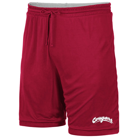 Kids Crimson and Grey Reversible Shorts