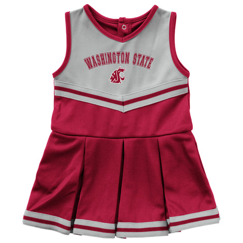 Crimson and Grey Infant Cheerleader Outfit