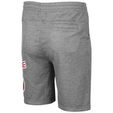 Mens Heather Grey Polyester Sweat Shorts