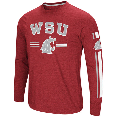 Men's Long Sleeve WSU Cougars Crimson Shirt