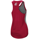 Ladies Crimson and Grey 2-Tone WSU Tank