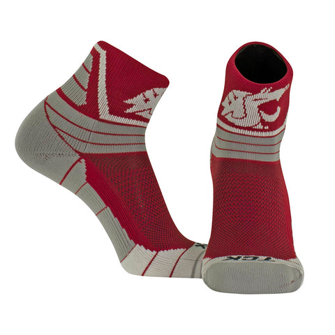 TCK High Ankle WSU Crimson Socks