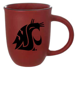 Crimson Ceramic Cougar Coffee Mug