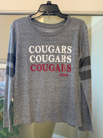 Womens Grey Cougars Long sleeve