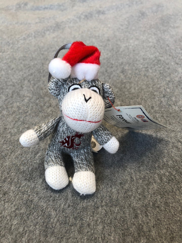 WSU Sock Monkey Ornament