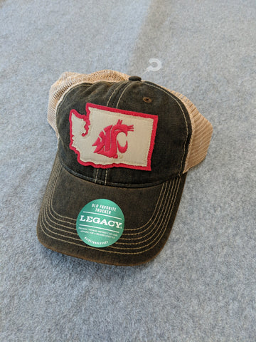 Washington State Washed Trucker Hat