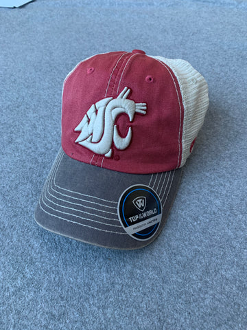 Crimson and Grey Washington State Offroad Adjustable Hat