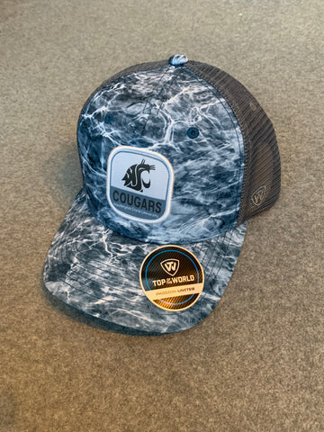 Blue & Grey Washington State Two Tone Adjustable Hat