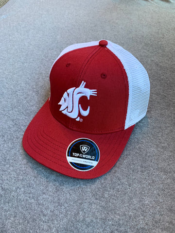 Crimson & White Washington State Adjustable Hat