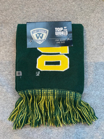 Green & Yellow Oregon Ducks Winter Scarf