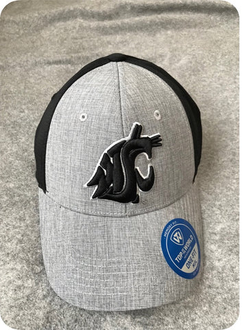 Black and Grey WSU Cougars Fitted hat