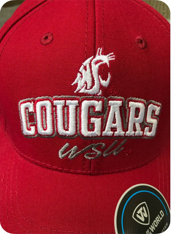 Crimson WSU Cougars Embroidered Hat