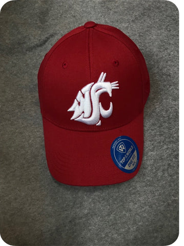 Classic Crimson Cougar Embroidered Fitted Hat