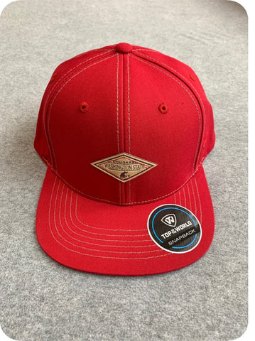 Crimson Washington State University Diamond Hat