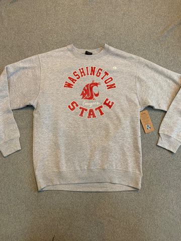 Grey WSU Pullover Crew Neck Sweater