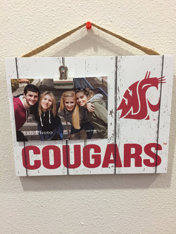 WSU Cougars White Clip Photo Frame