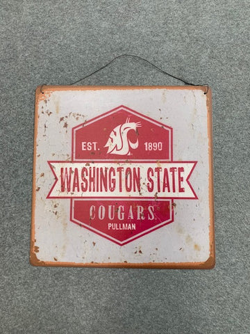 Washington State tin sign retro
