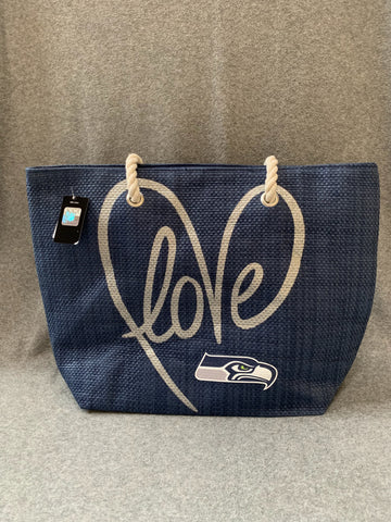 Seattle Seahawks Canvas Love Tote