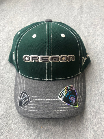Green Oregon Ducks Hat With Grey Bill