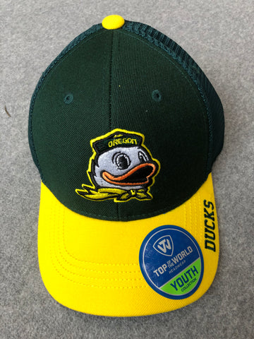 Green Youth Oregon Ducks Hat With Logo