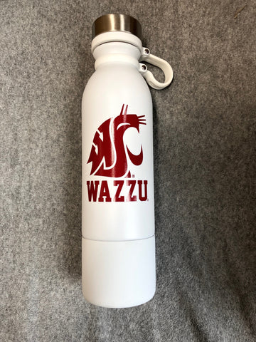 White WAZZU Vacuum Insulated Steel Bottle