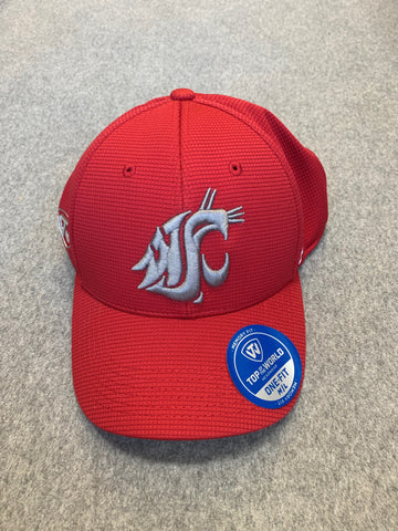 Crimson Coug Hat With Grey Coug