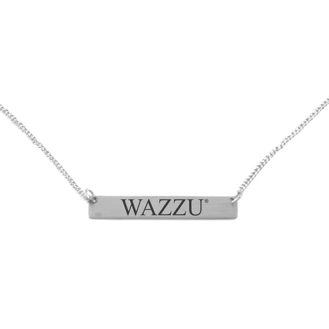 Silver Engraved Wazzu Necklace