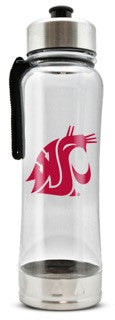 Clear Plastic WSU Water Bottle