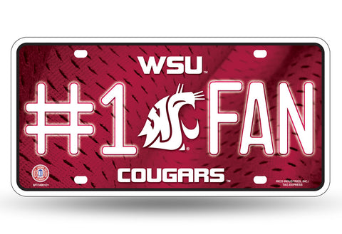 WSU Cougars #1 Fan License Plate