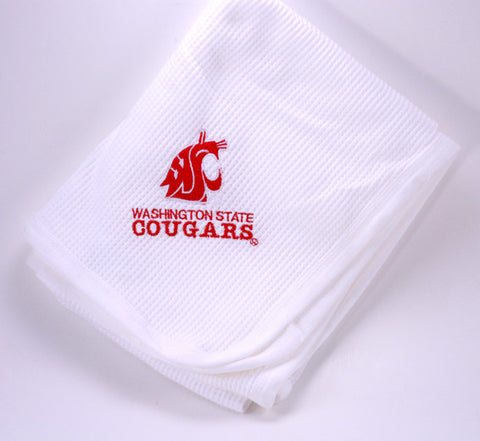 WSU Cougars Baby Blanket - White