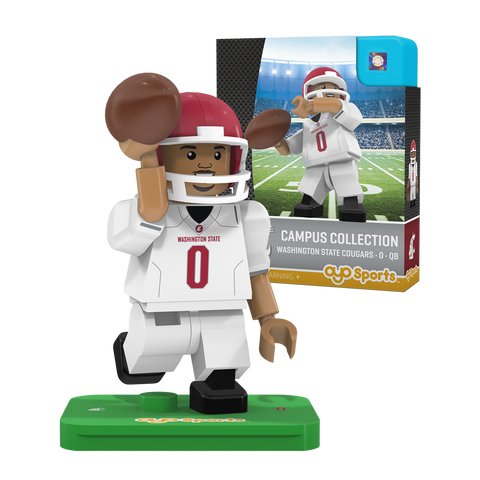 WSU White Jersey Toy Quarterback