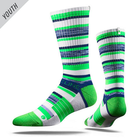 Navy and Neon Youth Seattle Seahawks Socks