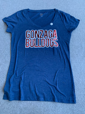 Women's Sequin Gonzaga Tee