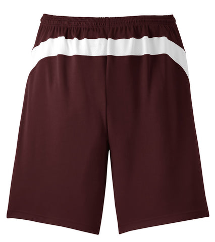 Men's Burgundy Coug Basketball Shorts With Mesh