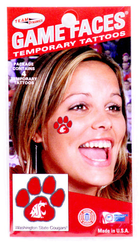Game Faces Temporary Tattoos - Cougar Paw