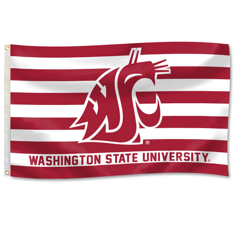 Washington State University Stripe 3X5 Flag