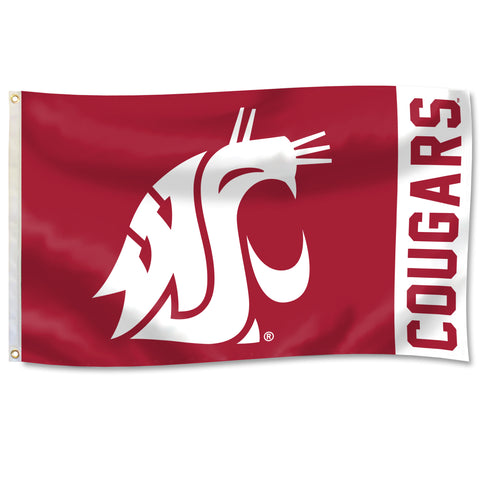 Crimson 3X5 Cougars Flag