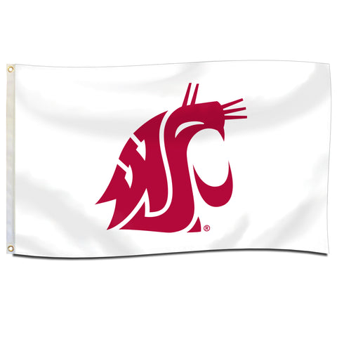 White 3X5 WSU Cougars Flag