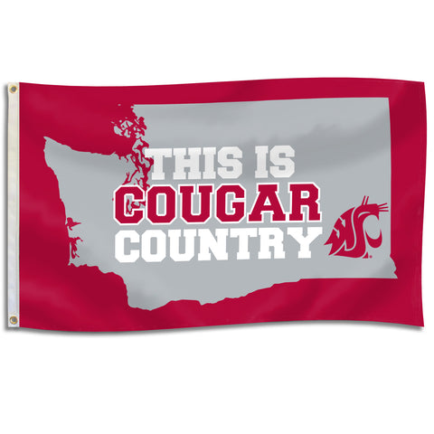 This is Cougar Country 3x5 Flag