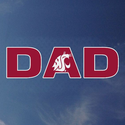 WSU Dad Decal with White Coug Logo