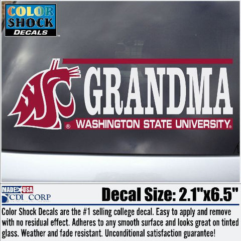 WSU Grandma Coug Decal