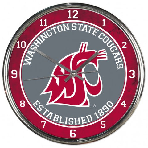 WSU Crimson and Chrome Clock