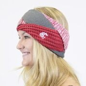 Crimson & Grey Criss Cross Headband