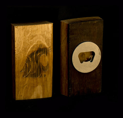 WSU Barrel Stave Magnetic Bottle Opener
