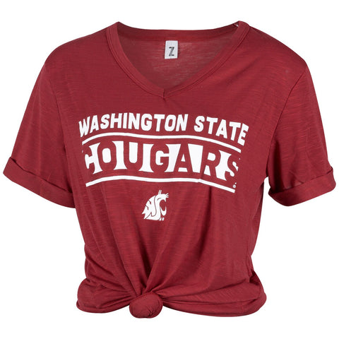WSU V-Neck Juke Top