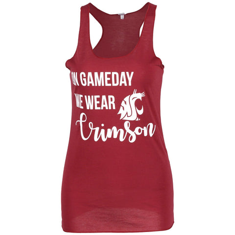 Game Day Crimson Tank Top