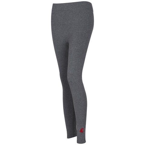 WSU Grey Fleece Leggings